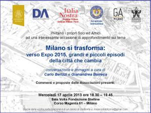 invito Milano si trasforma
