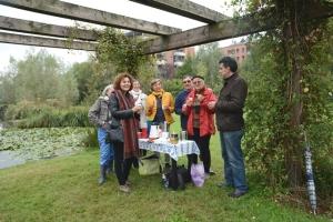 Pausa caffè durante la visita al Giardino d'acqua